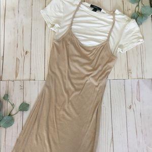 Cream and White dress